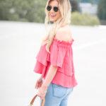 pink shirt rooftop