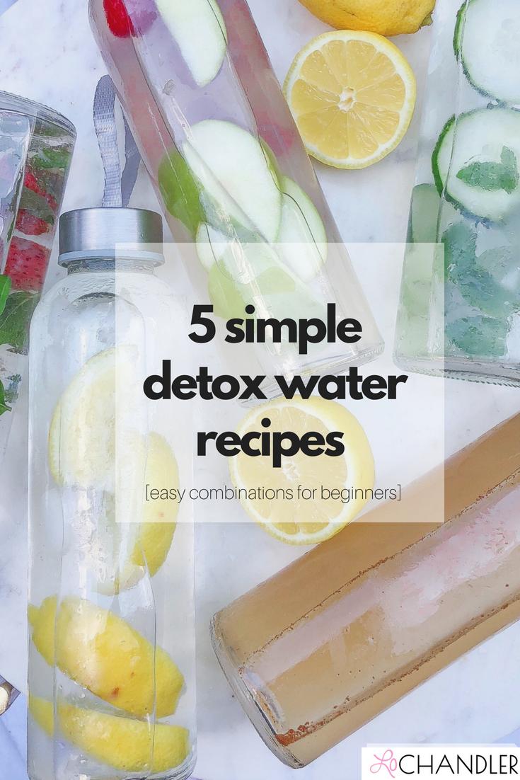 5 simple detox water recipes
